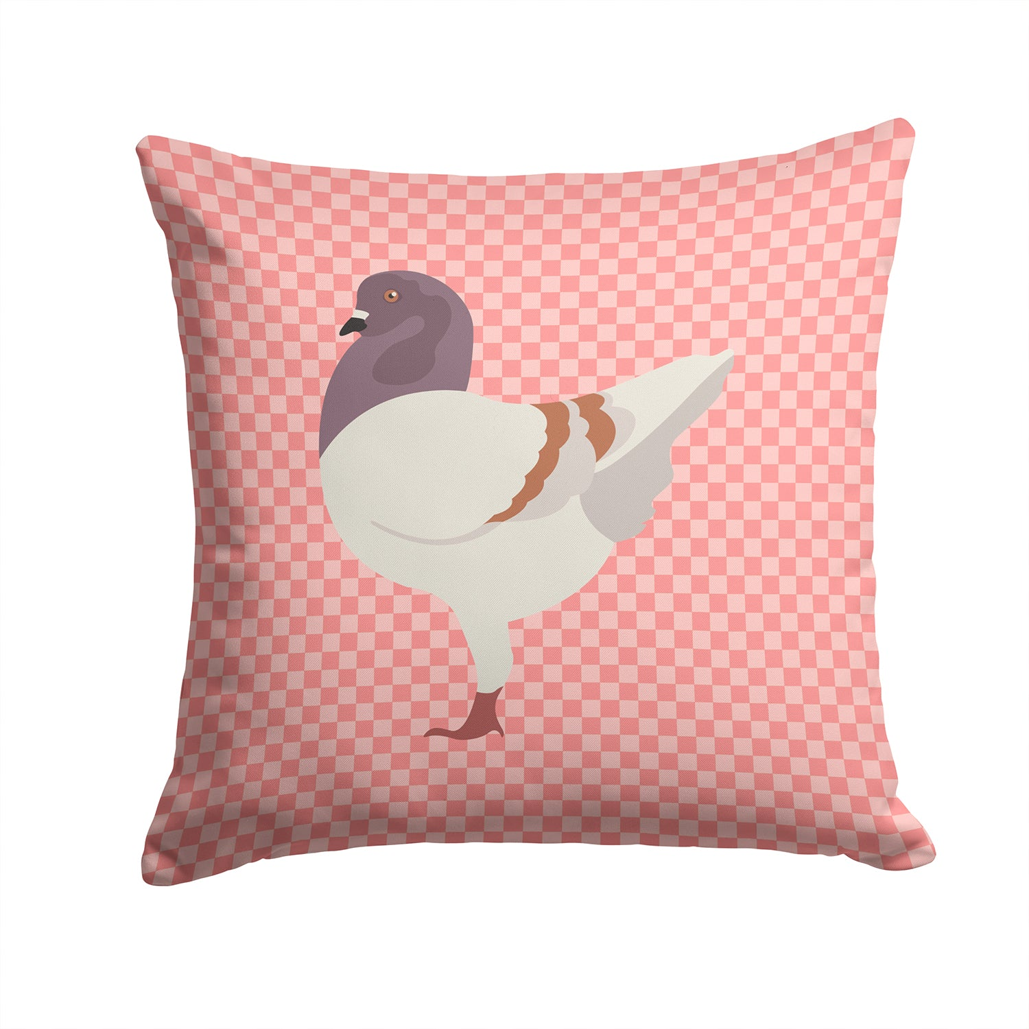 German Modena Pigeon Pink Check Fabric Decorative Pillow BB7949PW1414 by Caroline's Treasures