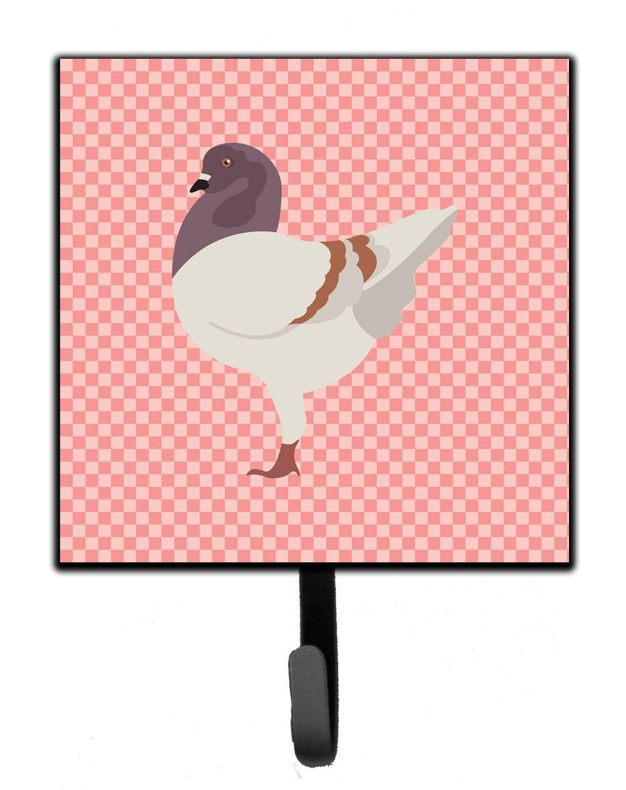 Buy this German Modena Pigeon Pink Check Leash or Key Holder