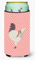 German Modena Pigeon Pink Check Tall Boy Beverage Insulator Hugger BB7949TBC by Caroline's Treasures