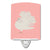Buy this Silver Fantail Pigeon Pink Check Ceramic Night Light BB7950CNL