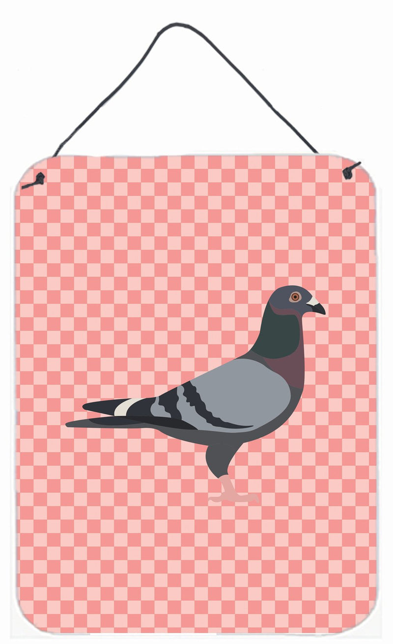 Buy this Racing Pigeon Pink Check Wall or Door Hanging Prints BB7951DS1216