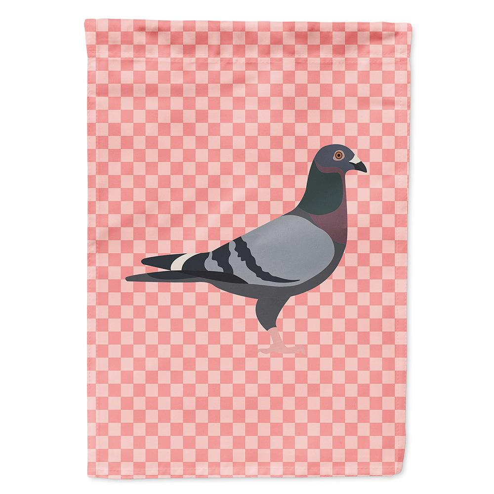 Buy this Racing Pigeon Pink Check Flag Garden Size