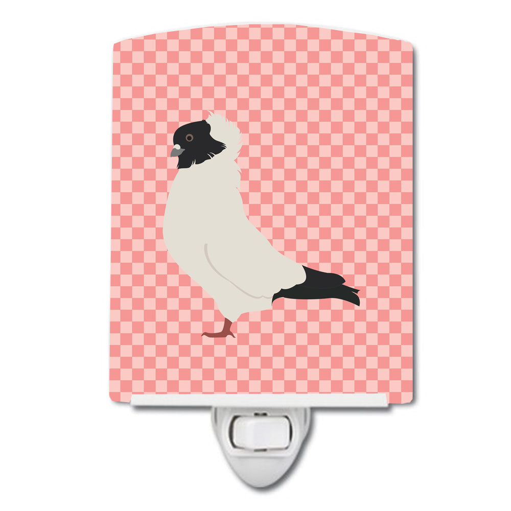 Buy this Nun Pigeon Pink Check Ceramic Night Light BB7952CNL