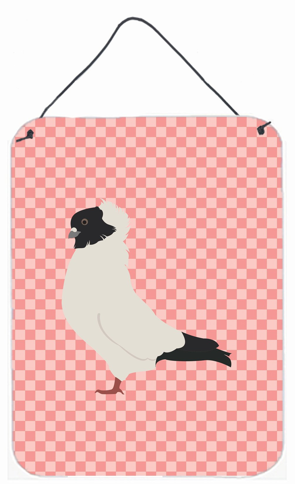 Buy this Nun Pigeon Pink Check Wall or Door Hanging Prints BB7952DS1216