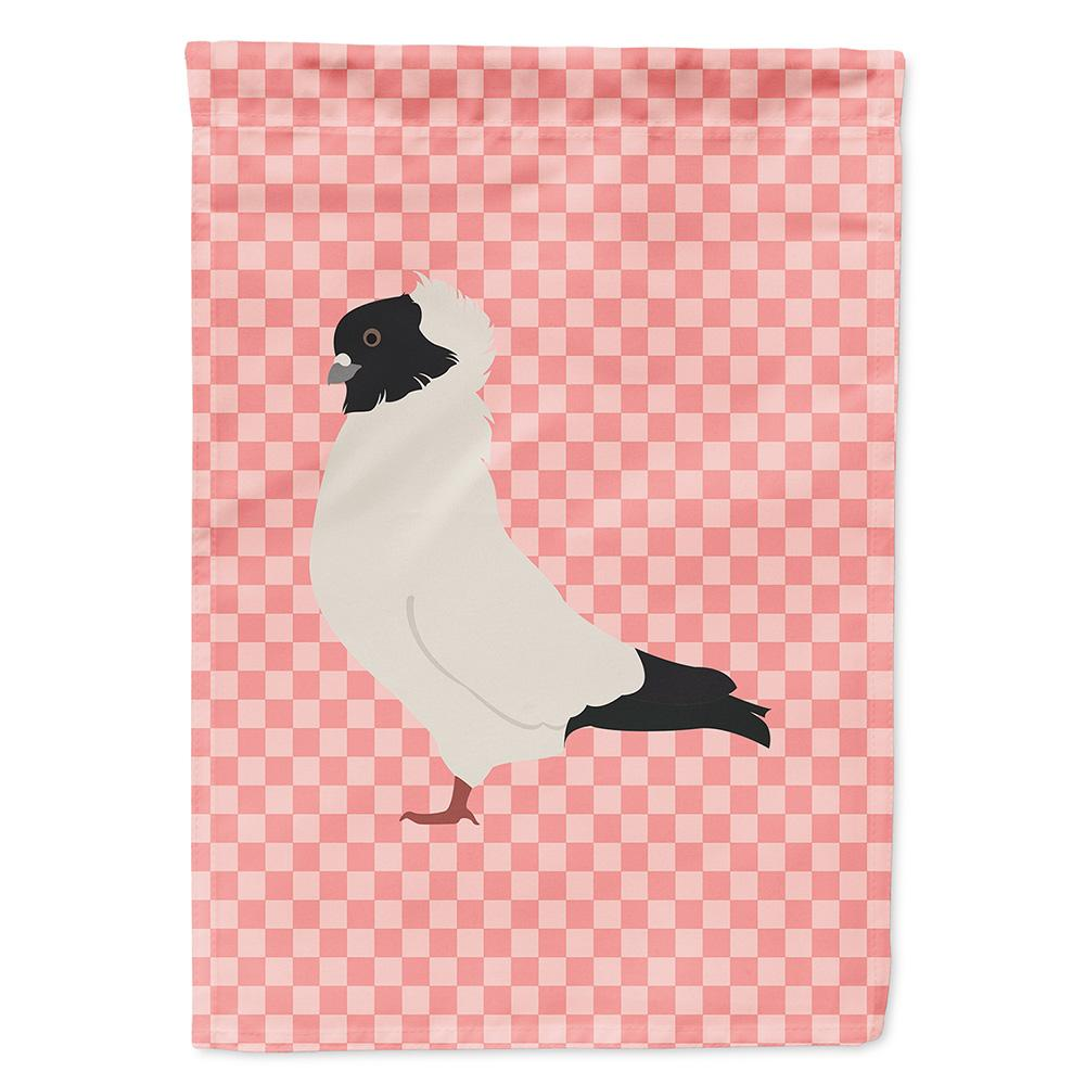Nun Pigeon Pink Check Flag Garden Size by Caroline's Treasures