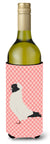 Buy this Nun Pigeon Pink Check Wine Bottle Beverge Insulator Hugger BB7952LITERK