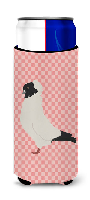 Buy this Nun Pigeon Pink Check Michelob Ultra Hugger for slim cans