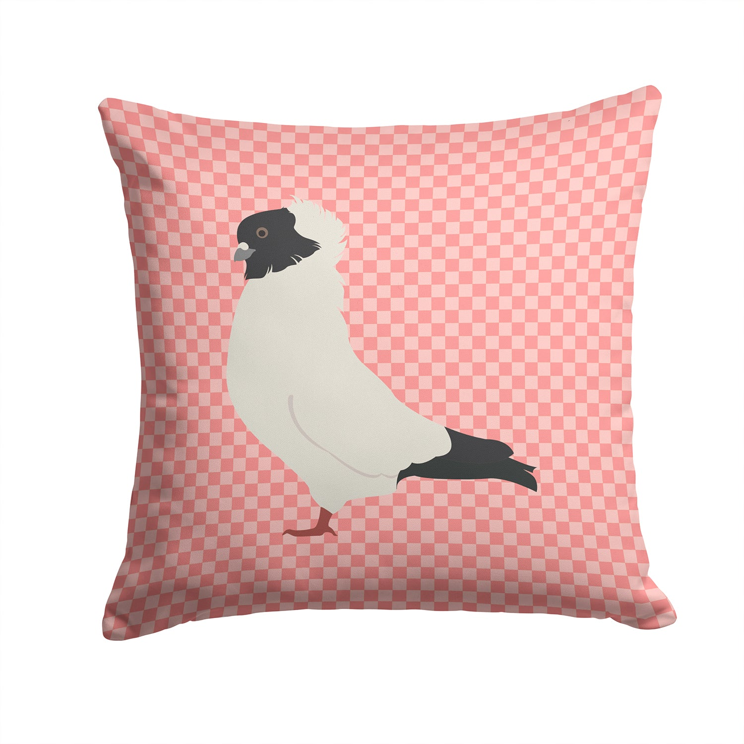Buy this Nun Pigeon Pink Check Fabric Decorative Pillow BB7952PW1414