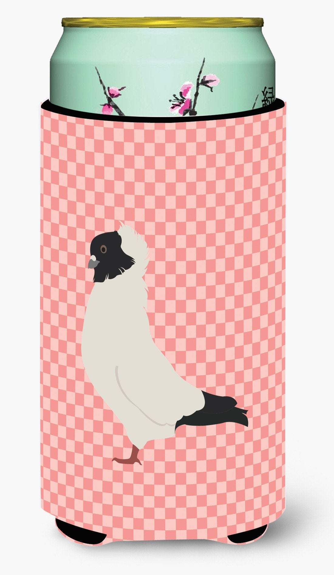 Nun Pigeon Pink Check Tall Boy Beverage Insulator Hugger BB7952TBC by Caroline's Treasures