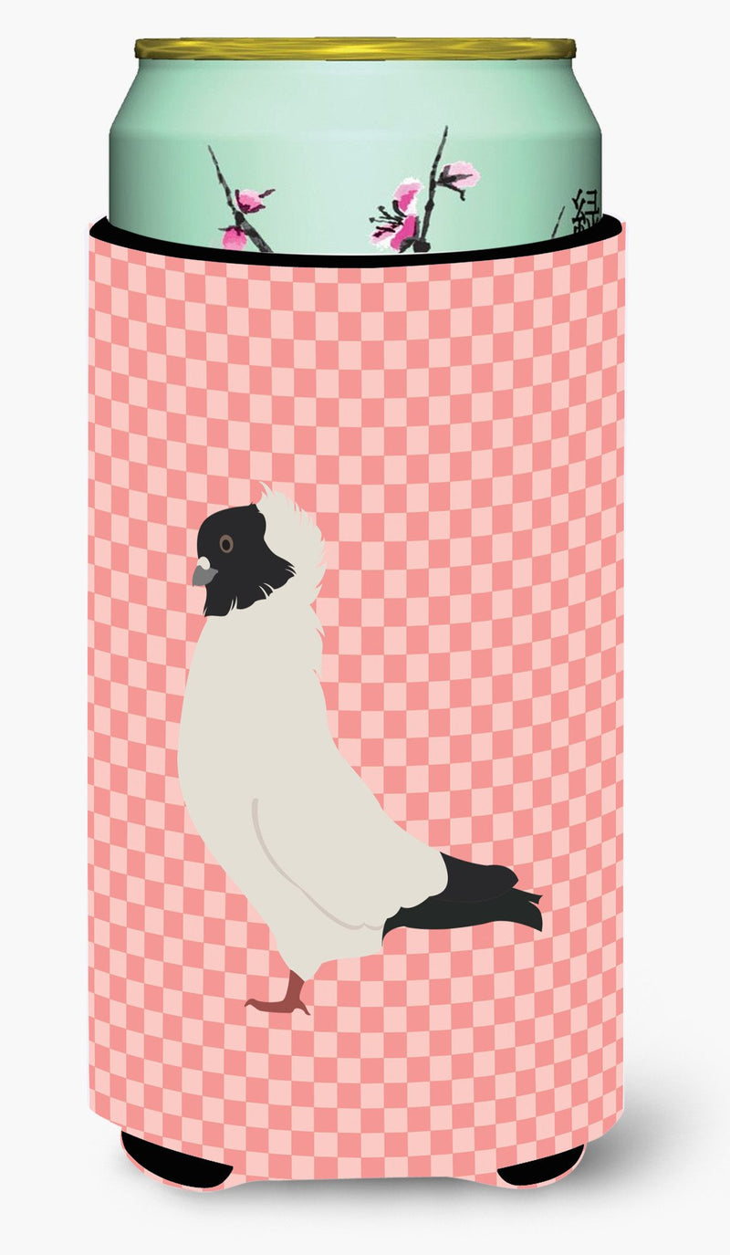Buy this Nun Pigeon Pink Check Tall Boy Beverage Insulator Hugger BB7952TBC