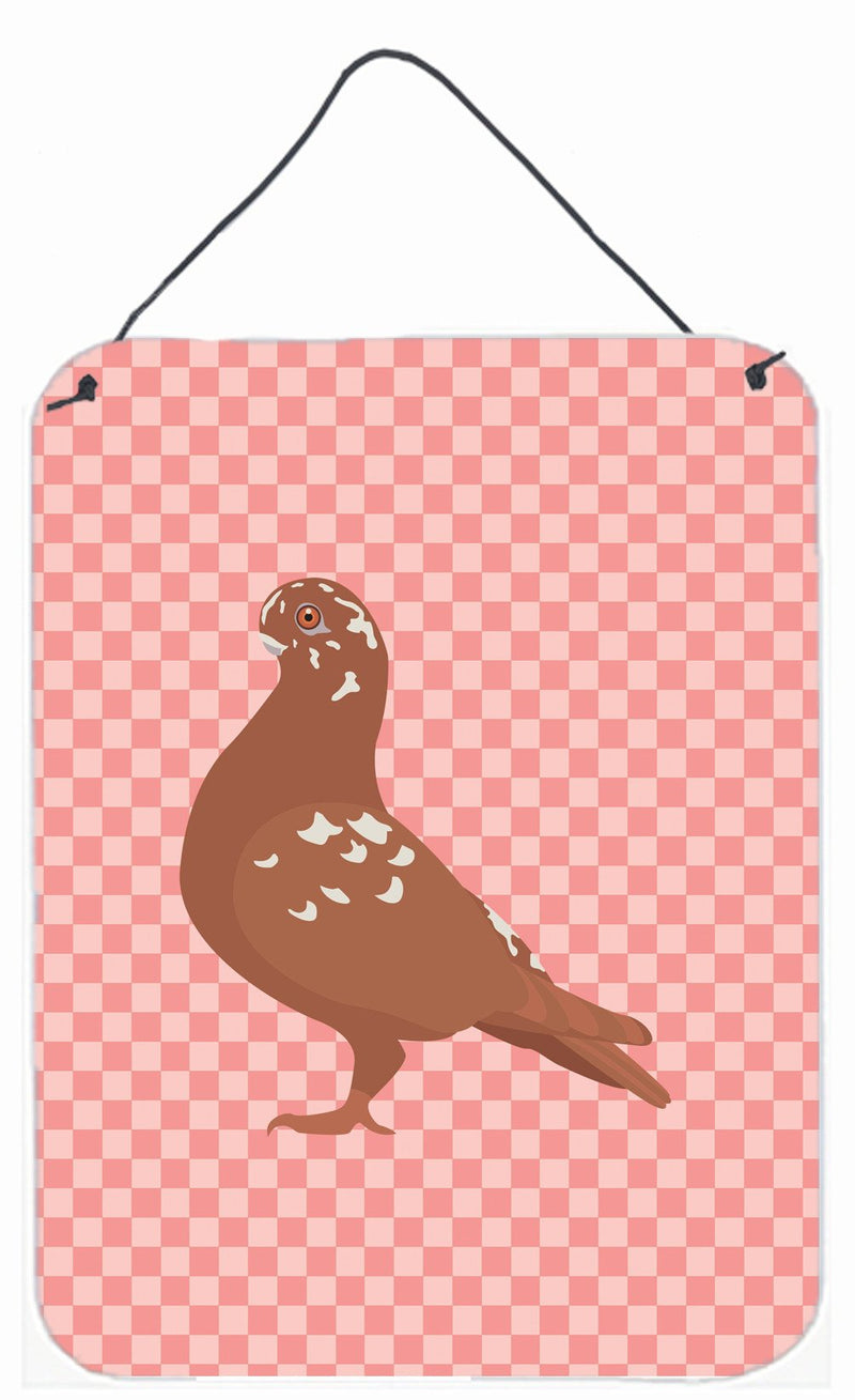 Buy this African Owl Pigeon Pink Check Wall or Door Hanging Prints BB7953DS1216