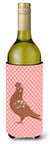 Buy this African Owl Pigeon Pink Check Wine Bottle Beverge Insulator Hugger BB7953LITERK