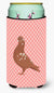 Buy this African Owl Pigeon Pink Check Tall Boy Beverage Insulator Hugger BB7953TBC