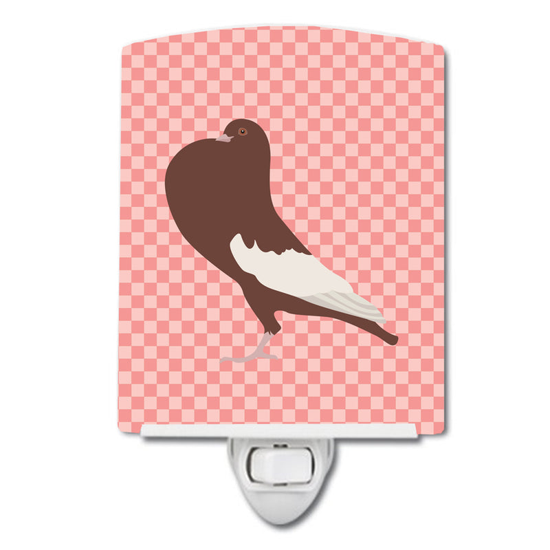 Buy this English Pouter Pigeon Pink Check Ceramic Night Light BB7954CNL