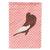Buy this English Pouter Pigeon Pink Check Flag Garden Size