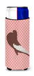 Buy this English Pouter Pigeon Pink Check Michelob Ultra Hugger for slim cans