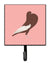 Buy this English Pouter Pigeon Pink Check Leash or Key Holder