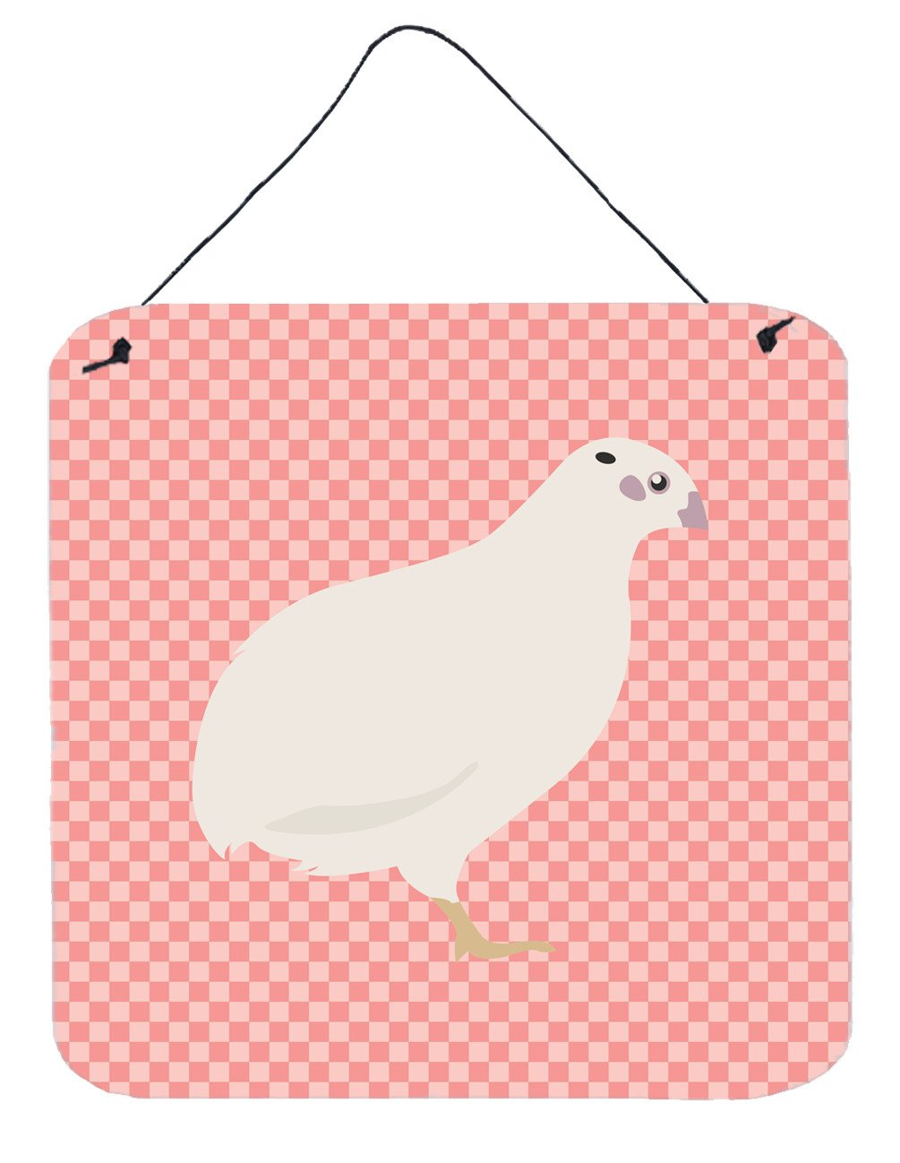 Buy this Texas Quail Pink Check Wall or Door Hanging Prints BB7957DS66