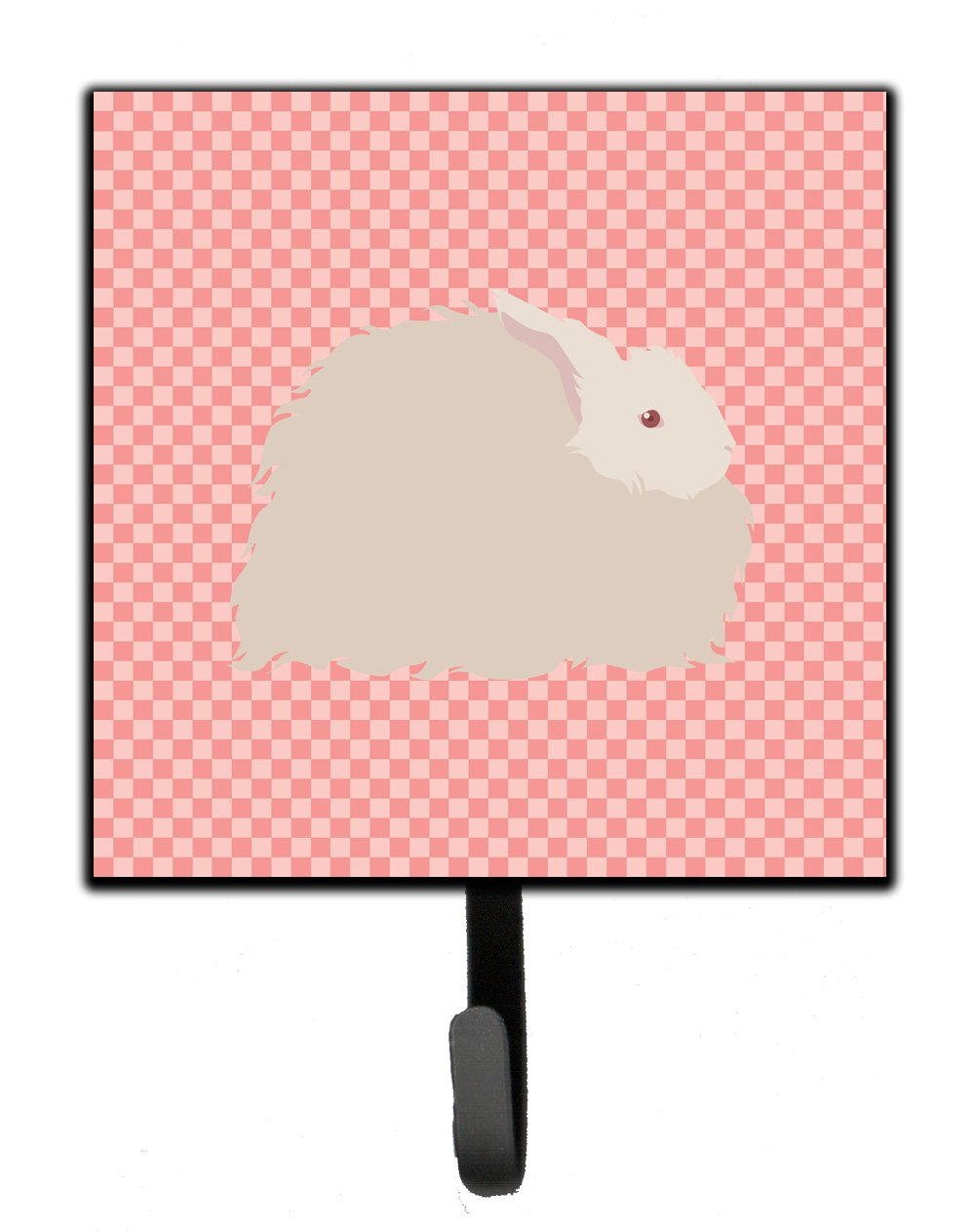 Buy this Fluffy Angora Rabbit Pink Check Leash or Key Holder
