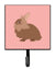 Buy this Lionhead Rabbit Pink Check Leash or Key Holder
