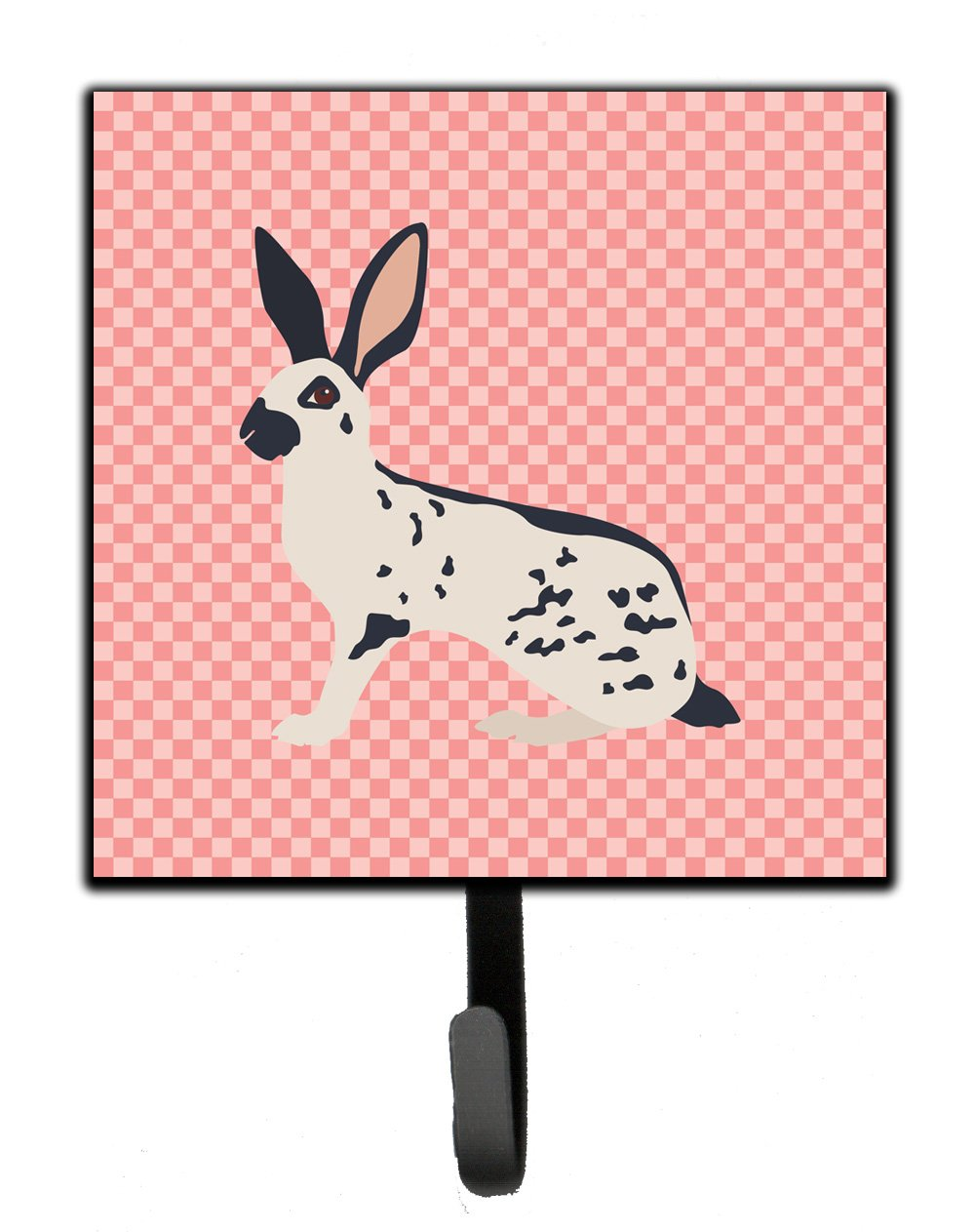 Buy this English Spot Rabbit Pink Check Leash or Key Holder