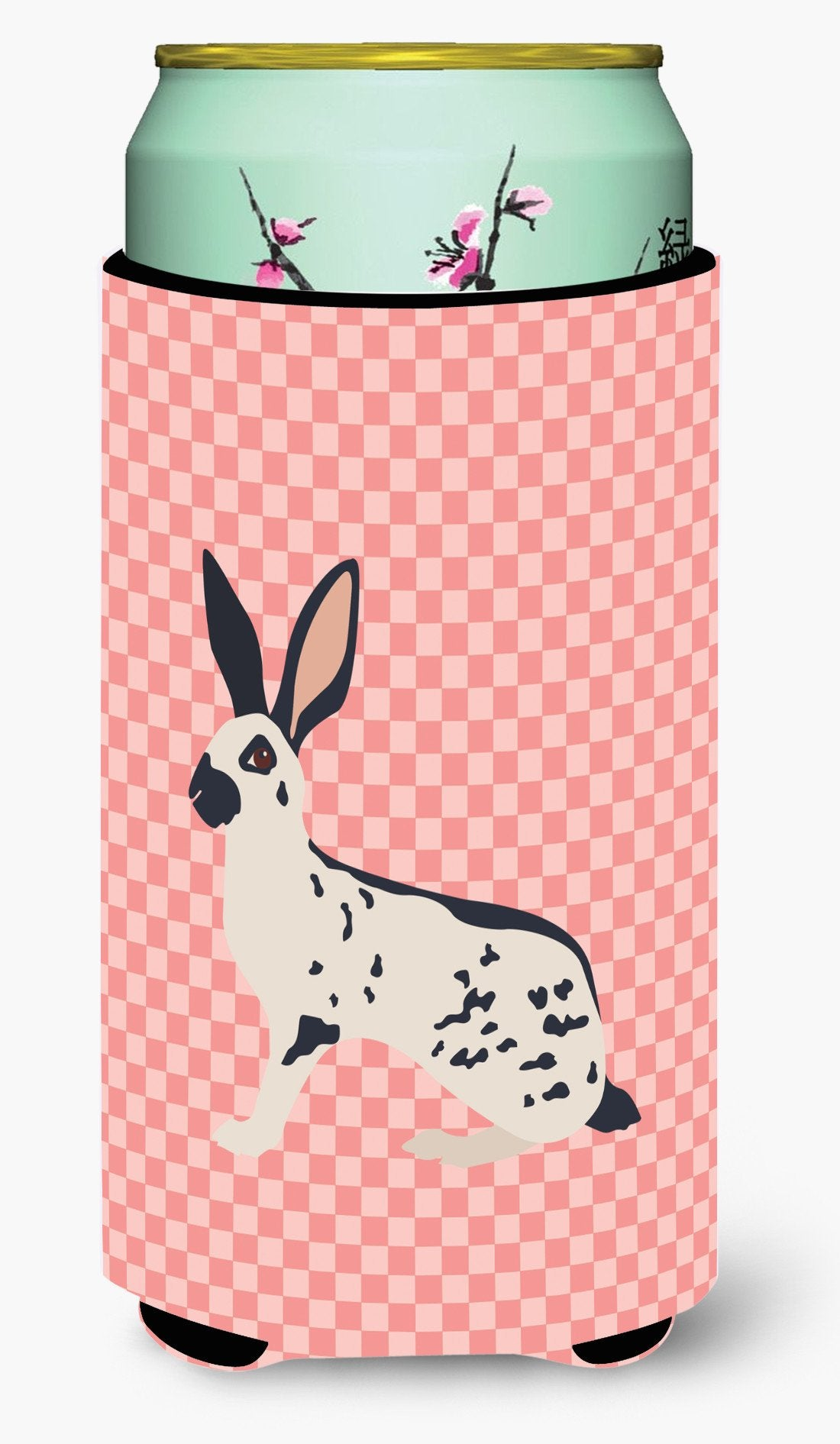 English Spot Rabbit Pink Check Tall Boy Beverage Insulator Hugger BB7961TBC by Caroline's Treasures