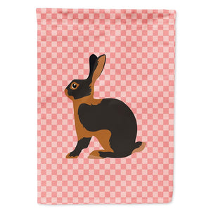 Buy this Tan Rabbit Pink Check Flag Garden Size