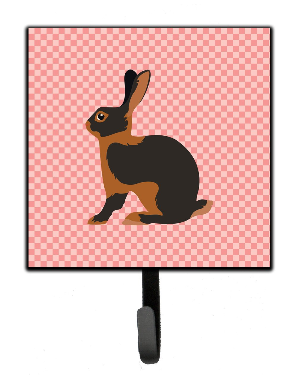 Buy this Tan Rabbit Pink Check Leash or Key Holder