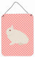 Hermelin Rabbit Pink Check Wall or Door Hanging Prints BB7964DS1216 by Caroline's Treasures