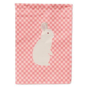 Buy this New Zealand White Rabbit Pink Check Flag Garden Size