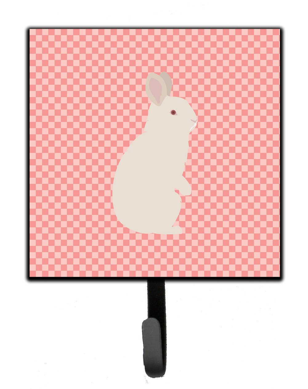 Buy this New Zealand White Rabbit Pink Check Leash or Key Holder