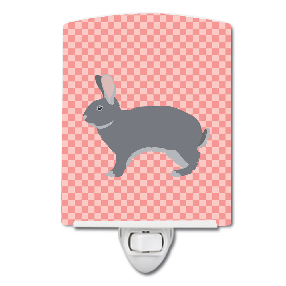 Buy this Giant Chinchilla Rabbit Pink Check Ceramic Night Light BB7966CNL