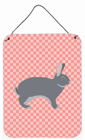 Buy this Giant Chinchilla Rabbit Pink Check Wall or Door Hanging Prints BB7966DS1216