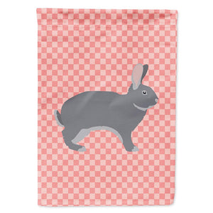 Buy this Giant Chinchilla Rabbit Pink Check Flag Garden Size