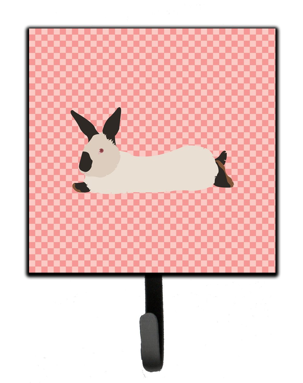 Buy this California White Rabbit Pink Check Leash or Key Holder
