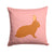 Rex Rabbit Pink Check Fabric Decorative Pillow BB7969PW1414 by Caroline's Treasures