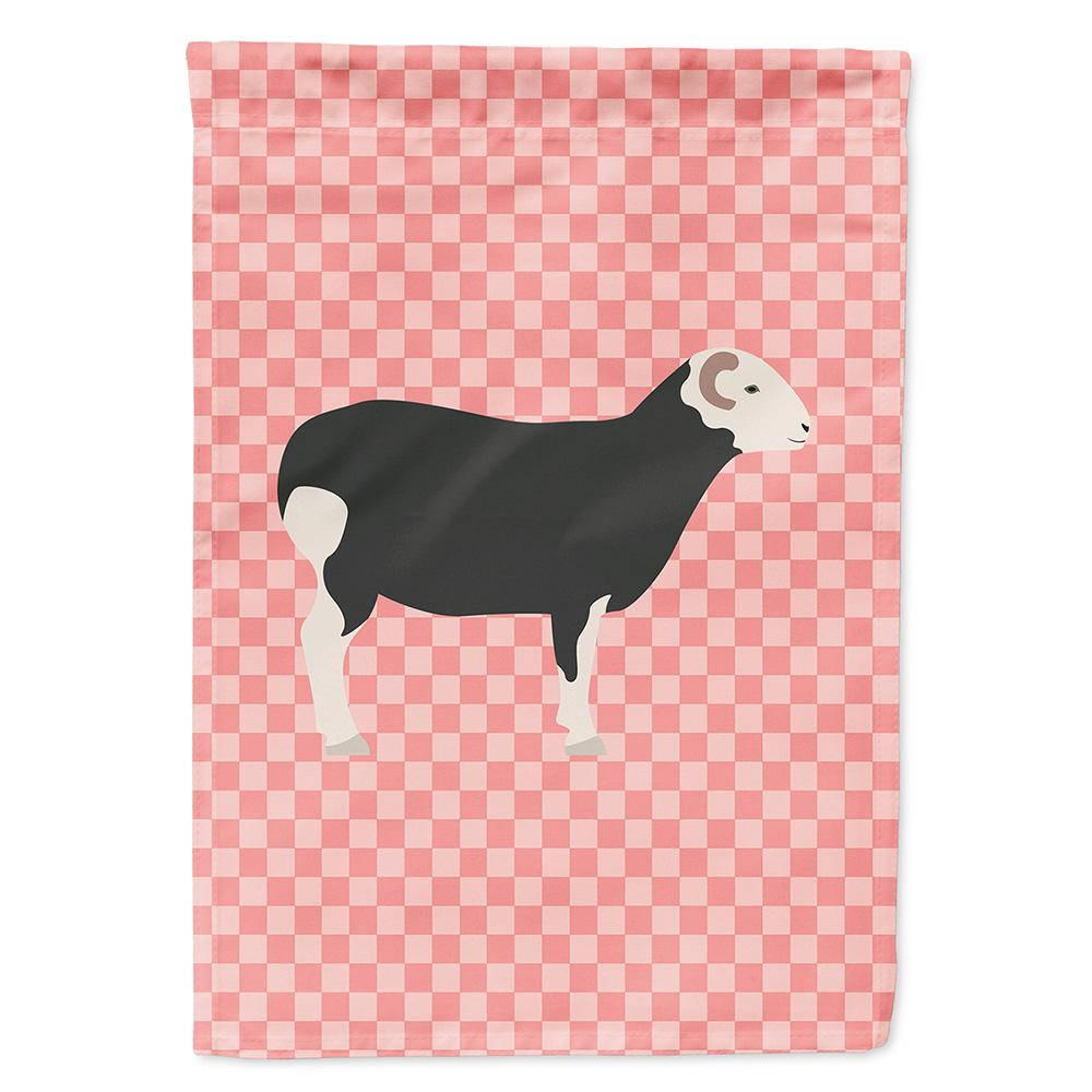 Buy this Herwick Sheep Pink Check Flag Garden Size