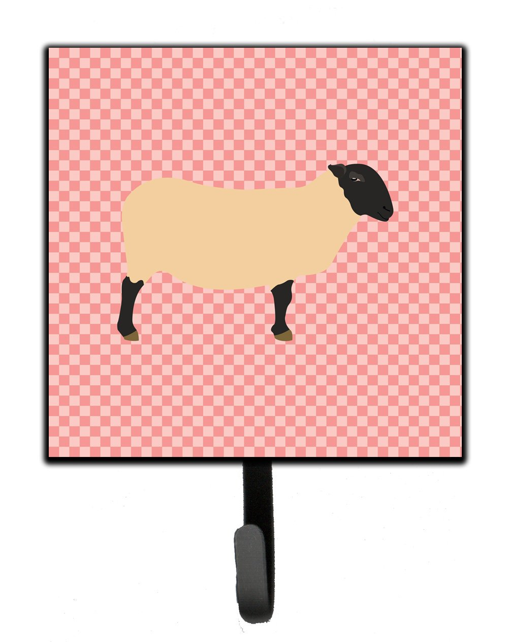 Buy this Suffolk Sheep Pink Check Leash or Key Holder