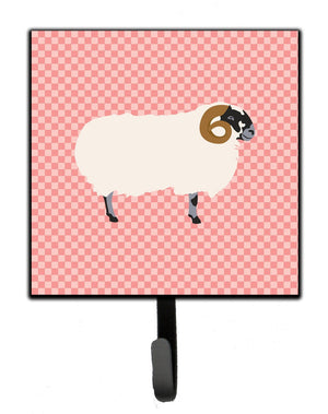 Buy this Scottish Blackface Sheep Pink Check Leash or Key Holder