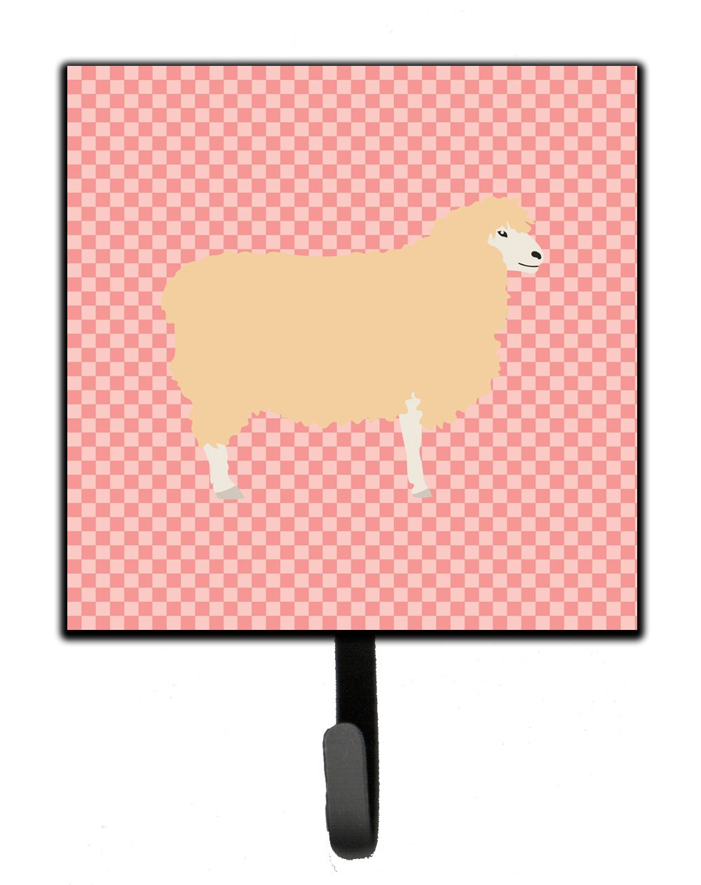 Buy this English Leicester Longwool Sheep Pink Check Leash or Key Holder