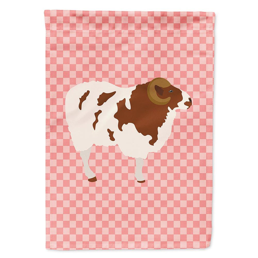 Buy this Jacob Sheep Pink Check Flag Garden Size