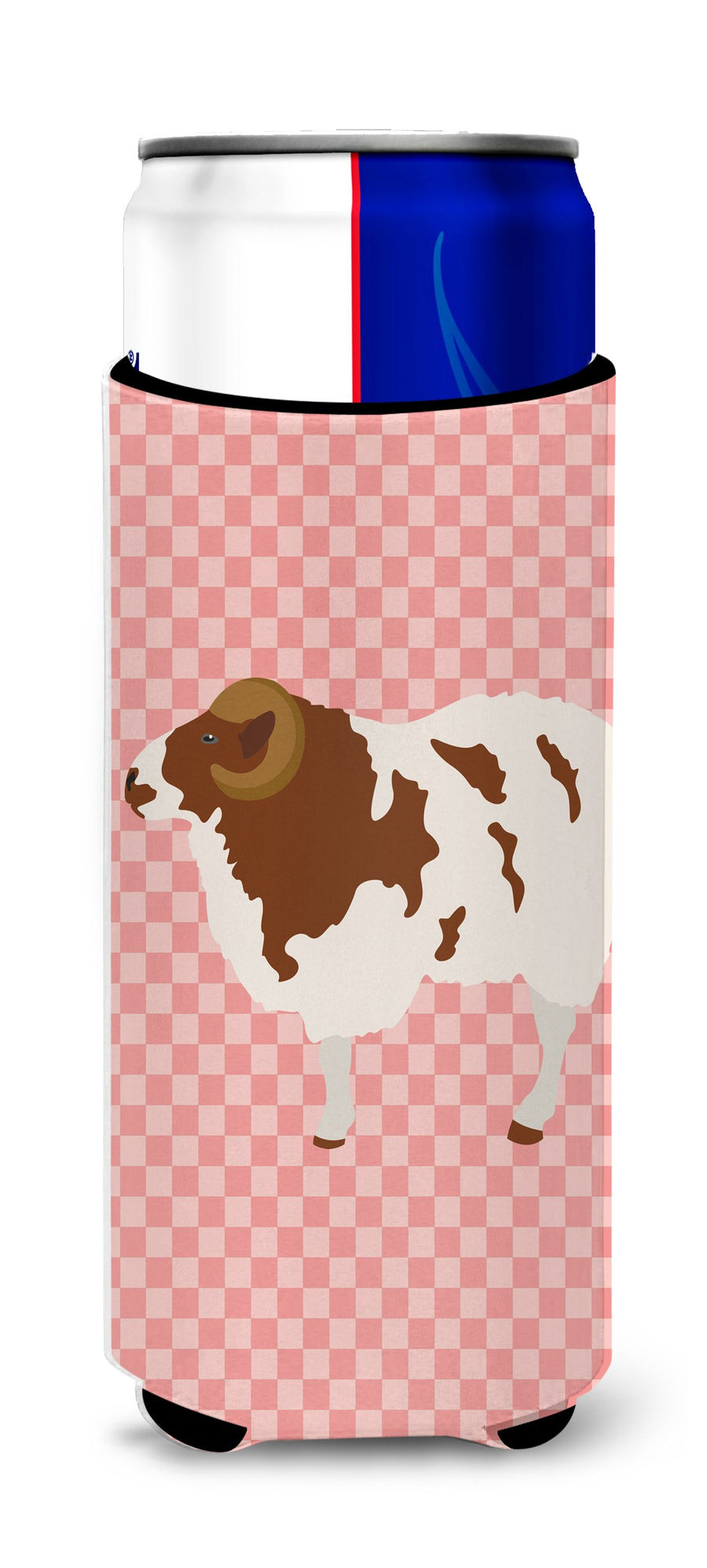 Buy this Jacob Sheep Pink Check Michelob Ultra Hugger for slim cans
