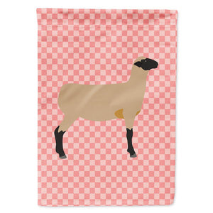 Buy this Hampshire Down Sheep Pink Check Flag Garden Size