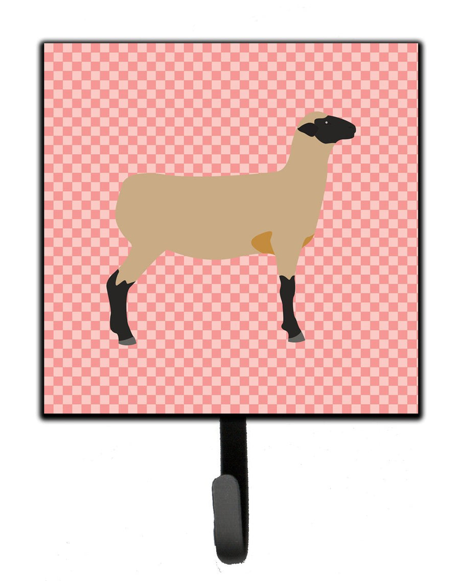 Buy this Hampshire Down Sheep Pink Check Leash or Key Holder