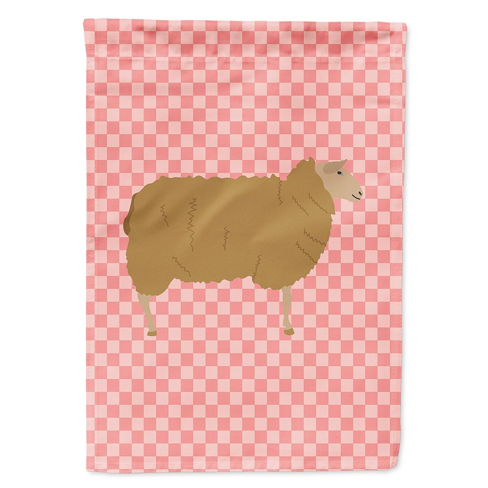 Buy this East Friesian Sheep Pink Check Flag Garden Size