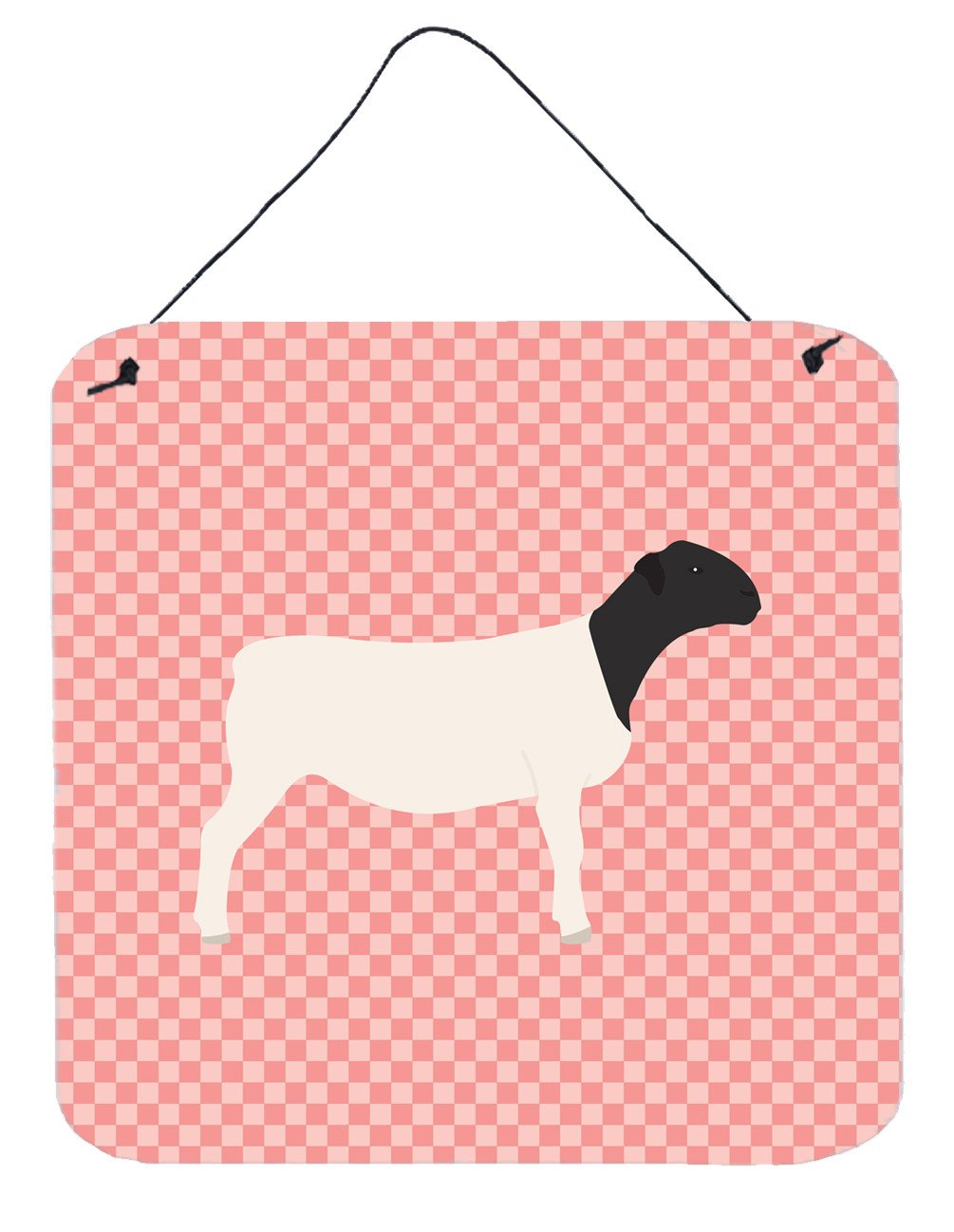 Dorper Sheep Pink Check Wall or Door Hanging Prints BB7978DS66 by Caroline's Treasures