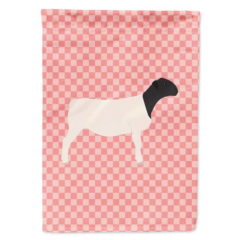 Buy this Dorper Sheep Pink Check Flag Garden Size