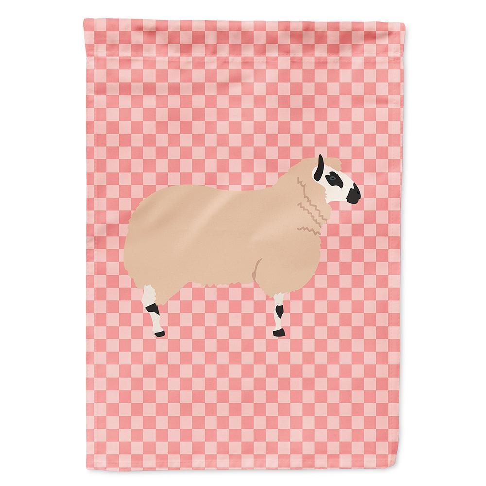 Kerry Hill Sheep Pink Check Flag Garden Size by Caroline's Treasures