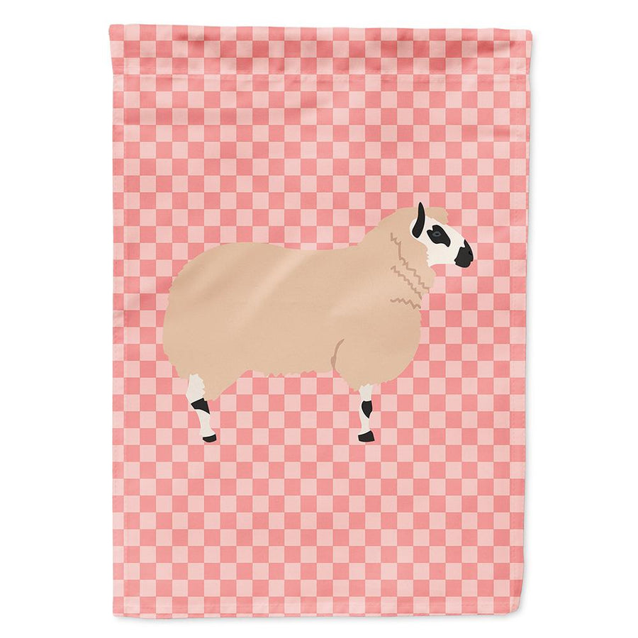 Buy this Kerry Hill Sheep Pink Check Flag Garden Size
