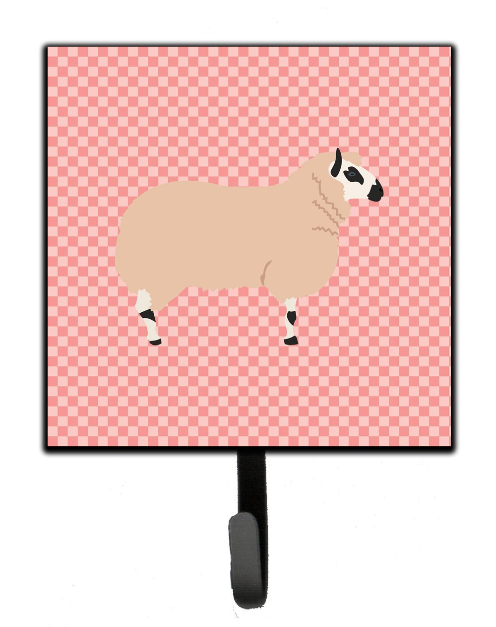 Buy this Kerry Hill Sheep Pink Check Leash or Key Holder